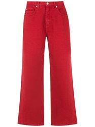 Osklen Cropped Trousers Red