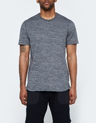 Reigning Champ Ss Scalloped Crewneck Tiger Jersey In Black