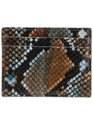 Etro Snakeskin Effect Cardholder Brown