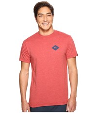 Quiksilver Diamond Days Tee Cardinal Heather Men's T Shirt Red
