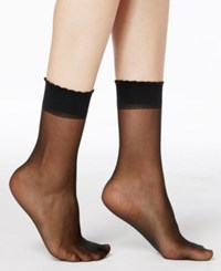 Berkshire Sheer Sheer Ankle Socks Hosiery 6753 Fantasy Black