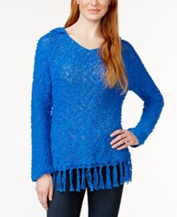 G.H. Bass And Co. Hooded Fringe Trim Sweater