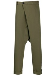 Gabriele Pasini Drop Crotch Trousers Green