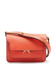 Marni Trunk Mini Saffiano Leather Cross Body Bag Red