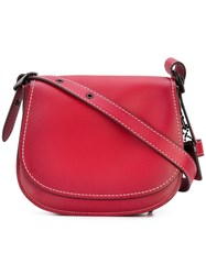 Coach Saddle 23 Bag Women Calf Leather One Size Red