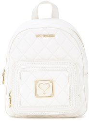 Love Moschino Quilted Backpack White