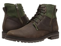 Mark Nason Briggs Brown Leather Olive Canvas Men's Shoes