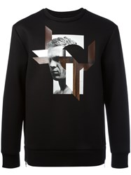 Neil Barrett Graphic Print Sweatshirt Black