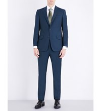 Richard James Slim Fit Wool And Mohair Blend Suit Teal