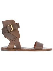 Michel Vivien Gladiator Sandals Brown