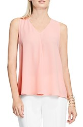 Vince Camuto Women's Drape Front Blouse Coral Reef