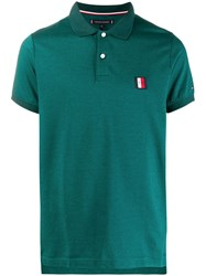 Tommy Hilfiger Logo Embroidered Polo T Shirt Green