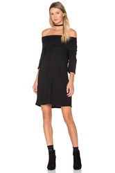 Minkpink High Neck Rib Dress Black