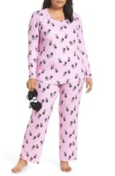 Make Model Plus Size Knit Pajamas And Sleep Mask Purple Pastel Ruff Life