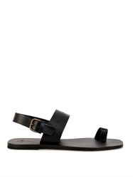Tomas Maier Palm Embossed Leather Sandals