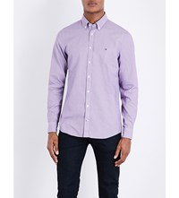 Tommy Hilfiger Dobby Slim Fit Cotton Shirt Sweet Grape