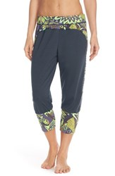 Women's Maaji 'Blazing Teal' Crop Yoga Pants