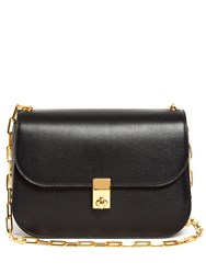 Valentino Link Chain Leather Cross Body Bag Black