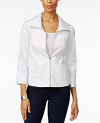 Jm Collection Zip Front Jacket Only At Macy's Bright White