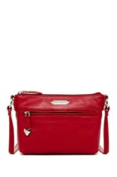 Perlina Nappa Leather Mini Crossbody Red