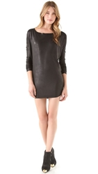 Tbags Los Angeles Faux Leather Dress Black