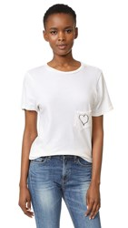 Prince Peter Pocket Heart Print Crew Tee Milk