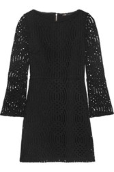 Maje Lace Mini Dress Black