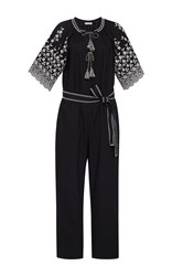 Ulla Johnson Alexi Short Sleeve Jumpsuit Black