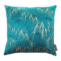 Clarissa Hulse Three Grasses Cushion 45X45cm Kingfisher Aqua