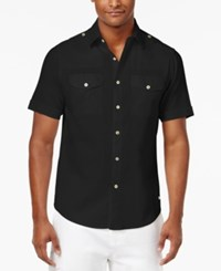 Sean John Men's Lightweight Shirt Pm Black