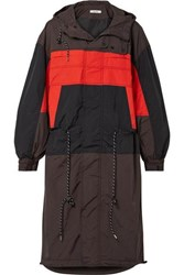 Ganni Faust Hooded Color Block Shell Jacket Black