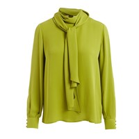 Wtr Ida Green Scarf Silk Blouse