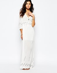 Stevie May Miss Hart Longsleeve Maxi Dress In White White