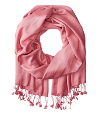 Betsey Johnson Cashmere Silk Real Pashmina Dusty Pink Scarves
