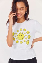 Urban Outfitters Smile Spiral Short Sleeve Tee White