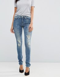 Blend She Casual Stacey Straight Ripped Jeans Vintage Blue