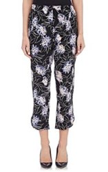 Thakoon Addition Vintage Floral Crop Pants Colorless Size 6 Us