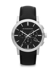Burberry Stainless Steel Chronograph Watch Black