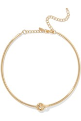 Kenneth Jay Lane Gold Plated Choker