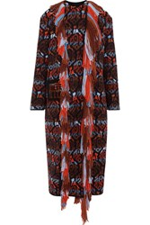 Peter Pilotto Crystal Embellished Fringed Wool Coat Red Usd