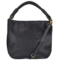 John Lewis Slouchy Leather Hobo Black