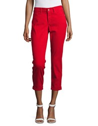 Nydj Alina Convertible Ankle Jeans Red