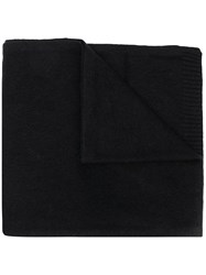 Max And Moi Fine Knit Scarf Black