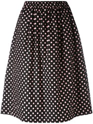 Comme Des Garcons Girl Polka Dot Midi Skirt Women Cotton S Black