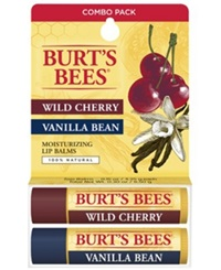 Burt's Bees Lip Balm Wild Cherry And Vanilla Bean Blister Box Combo 2 Pack