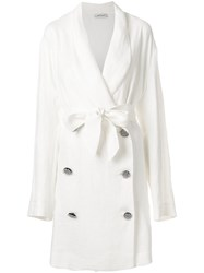 Attico Loose Fit Coat White
