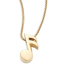 Alex Woo Little Big Rockstar 14K Yellow Gold Single Note Pendant Necklace