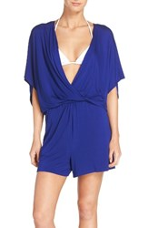 Trina Turk Women's Cover Up Romper Indigo