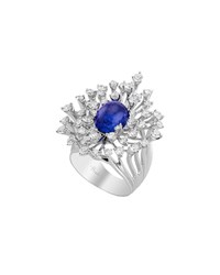 Hueb Luminus 18K White Gold Tanzanite And Diamond Ring