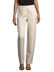 Hobbs Faye Linen Blend Trousers Natural